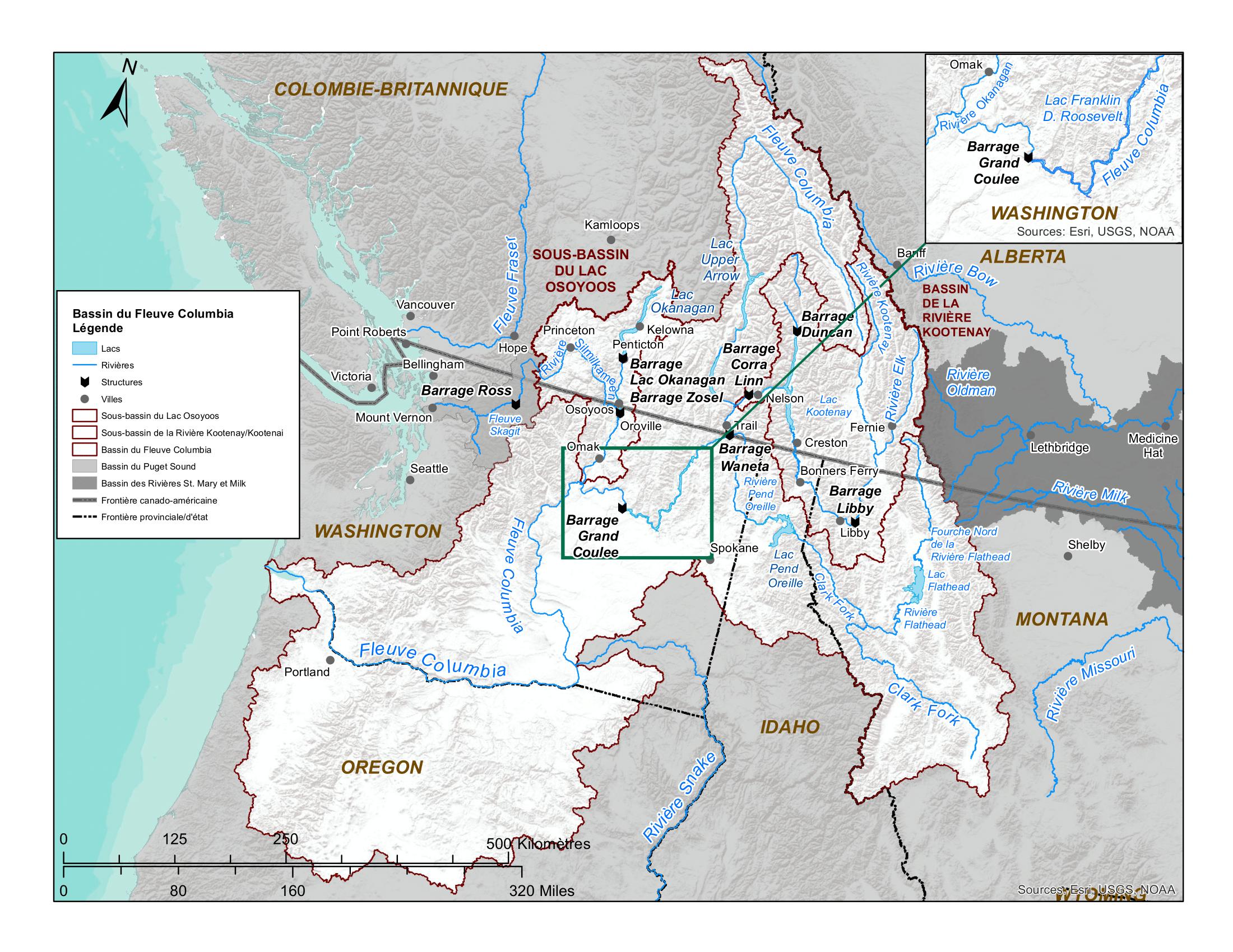 Bassin versant du fleuve Columbia