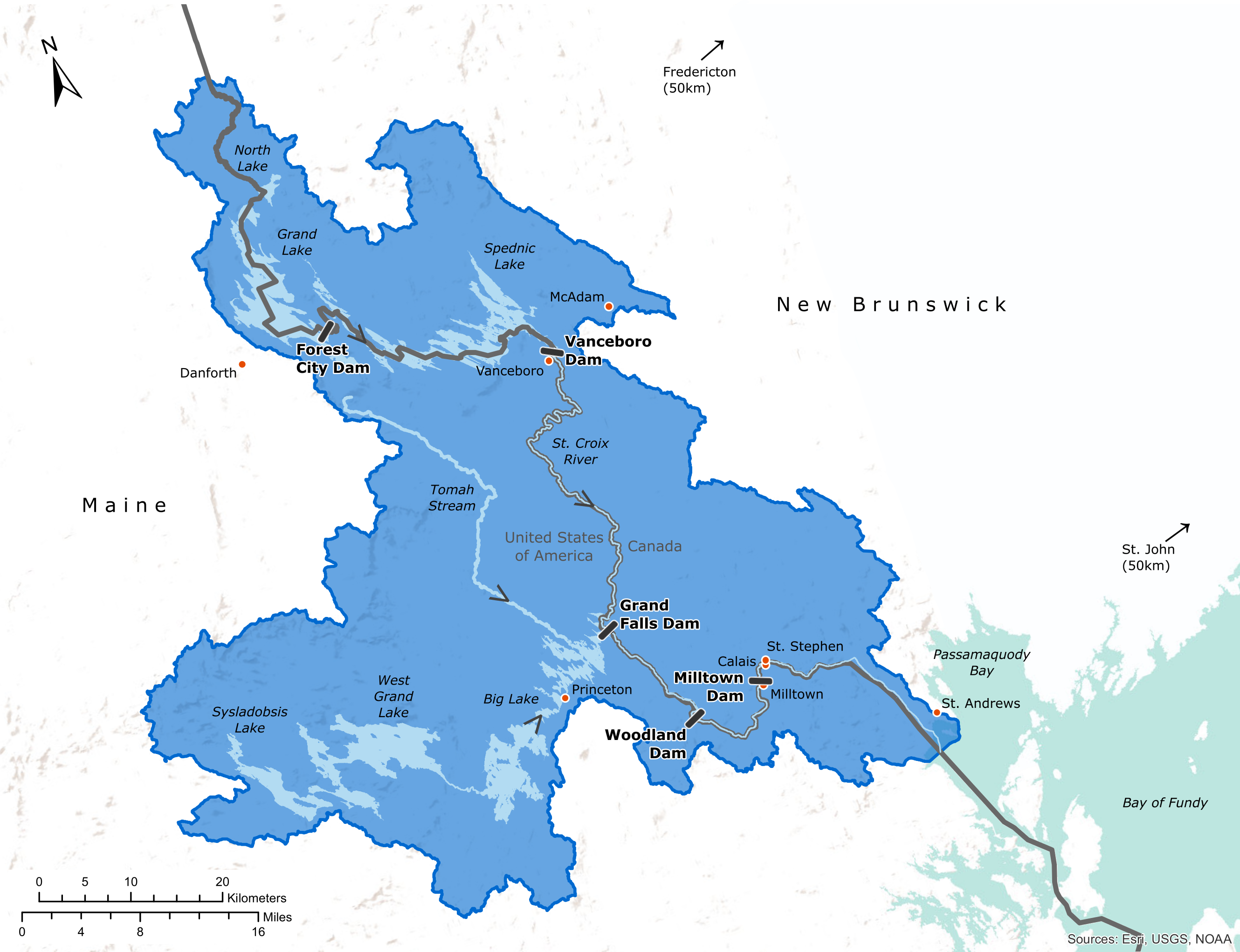 Map of St. Croix River Basin