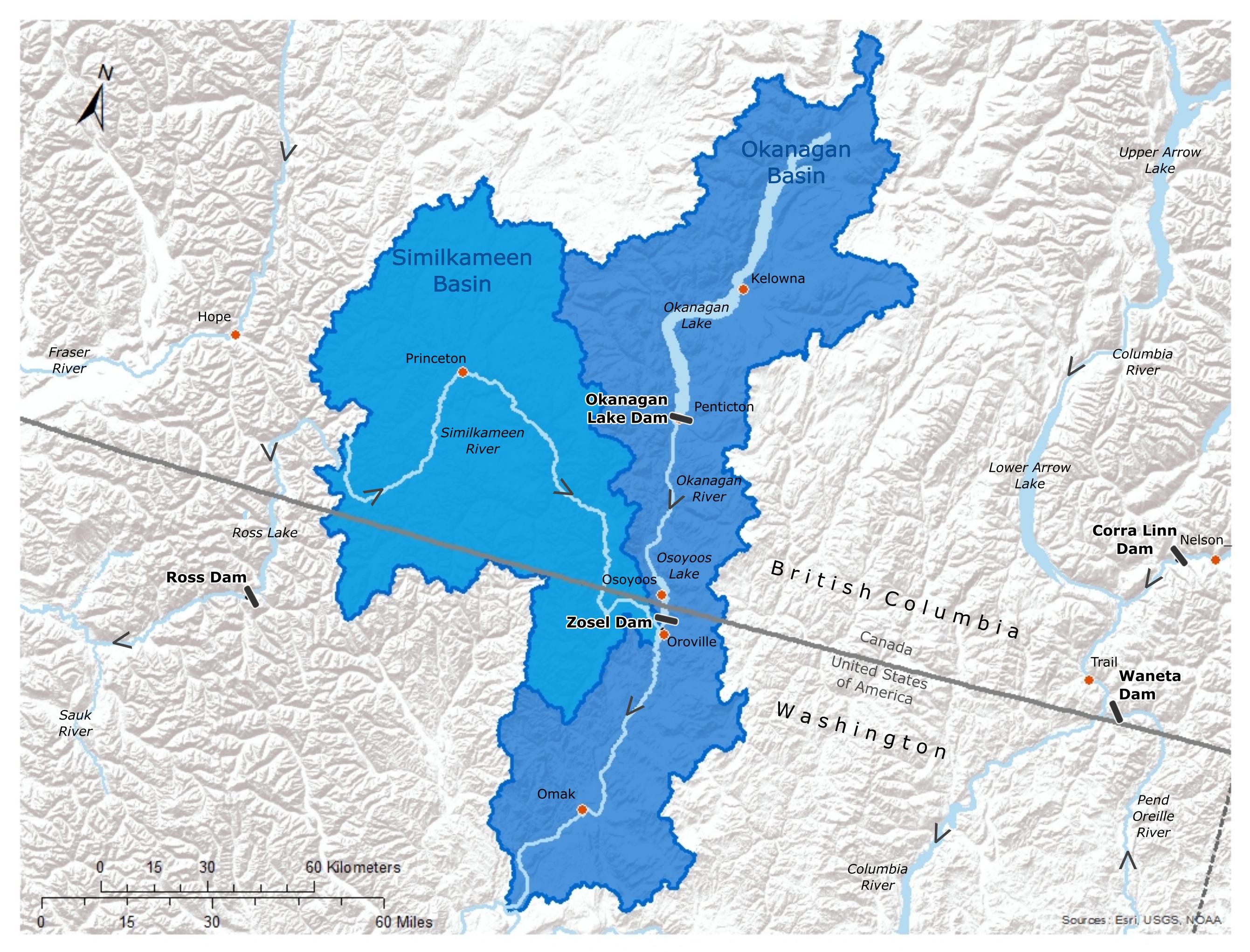Osoyoos Lake Basin Map