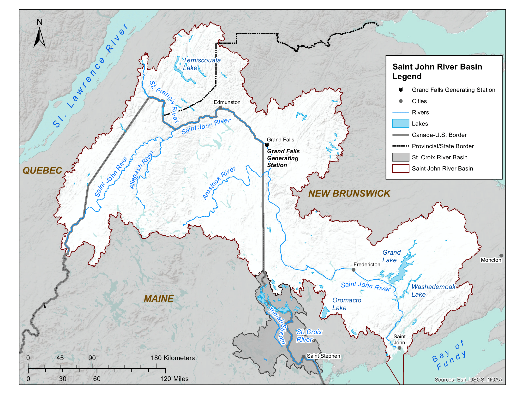 Map of Saint John River Basin