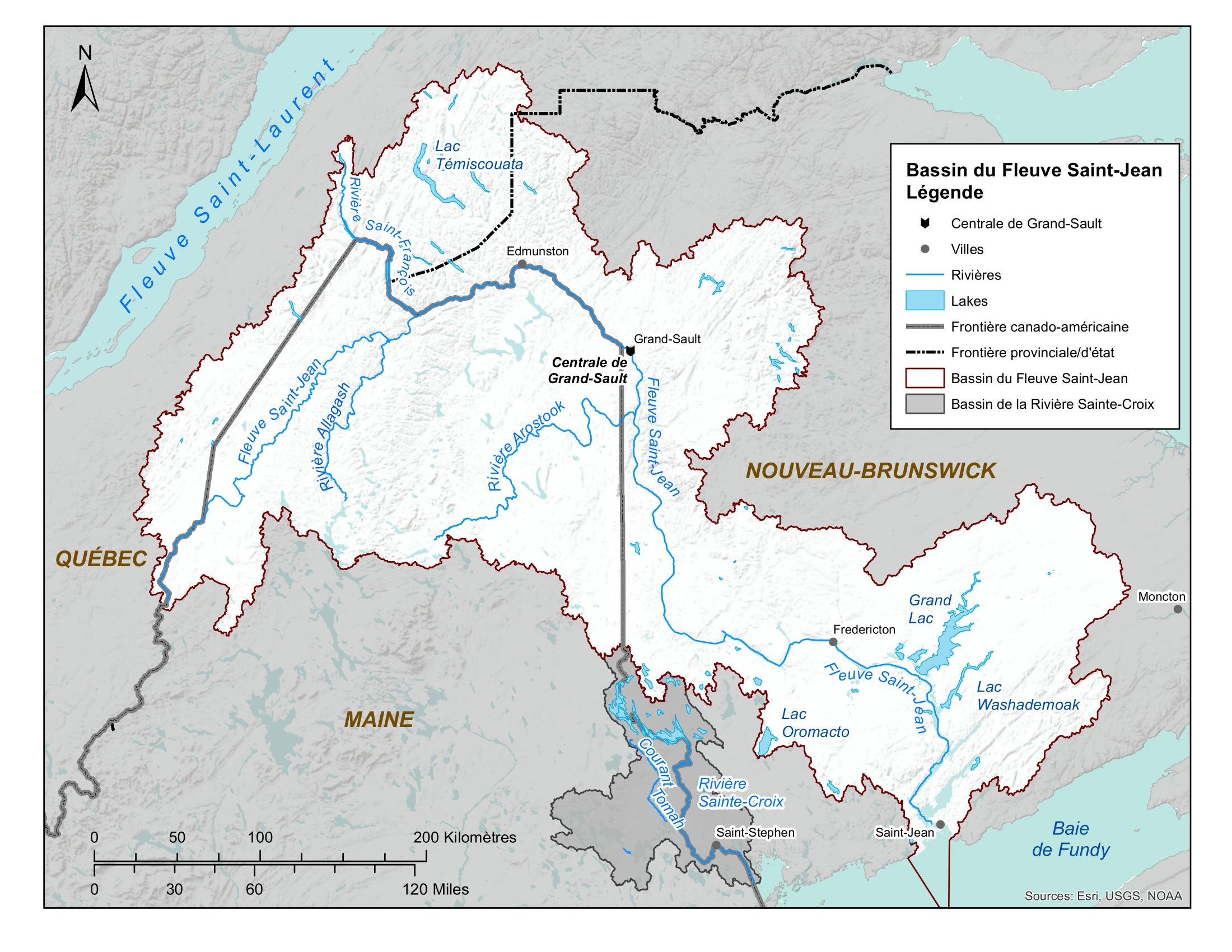 Carte du fleuve Saint-Jean