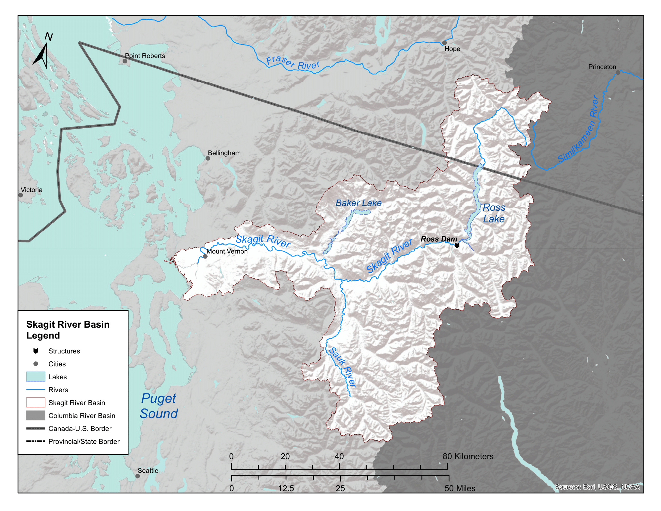Map of Skagit River Basin