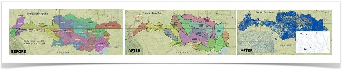 Oldman River Basin and SMM River Basin