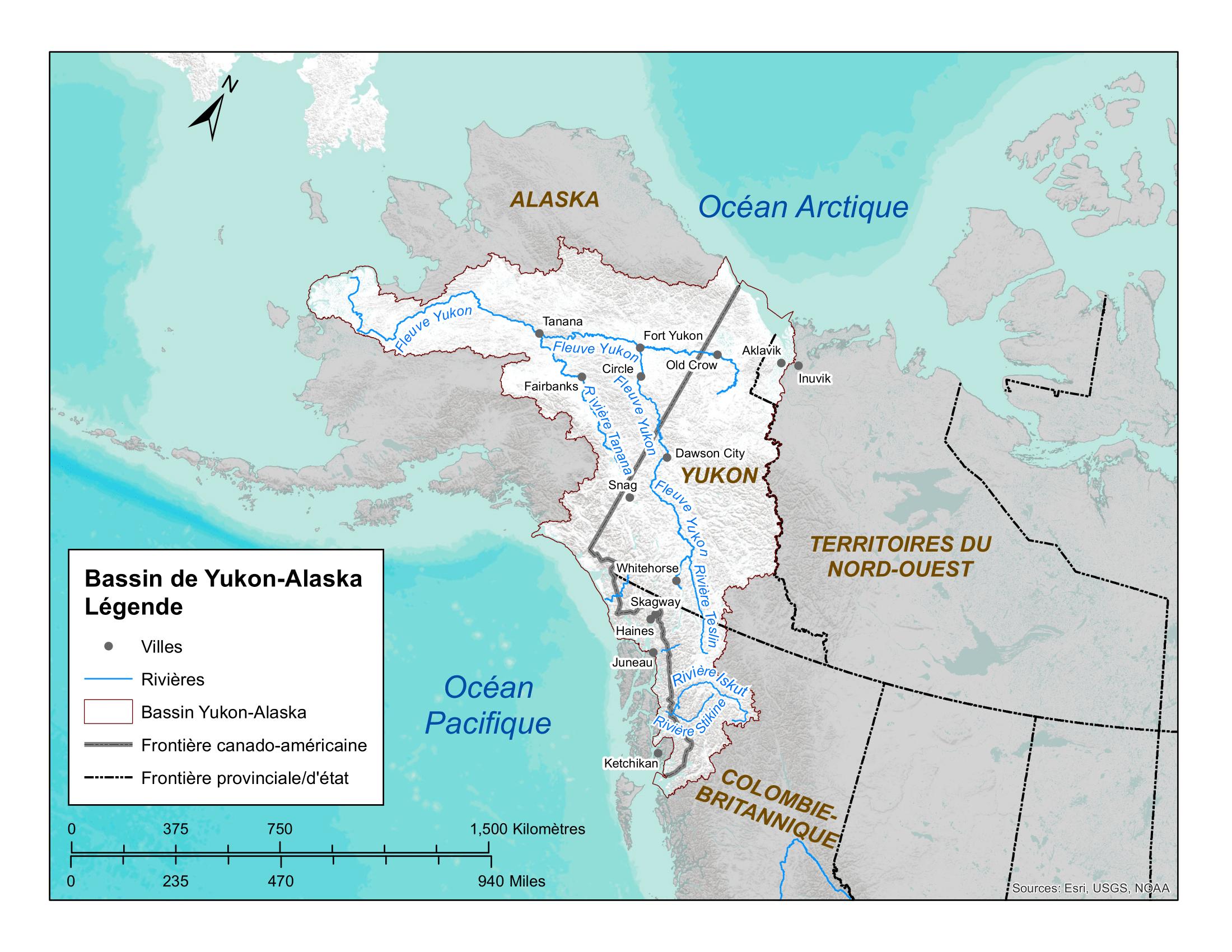 Fleuve Yukon en Alaska