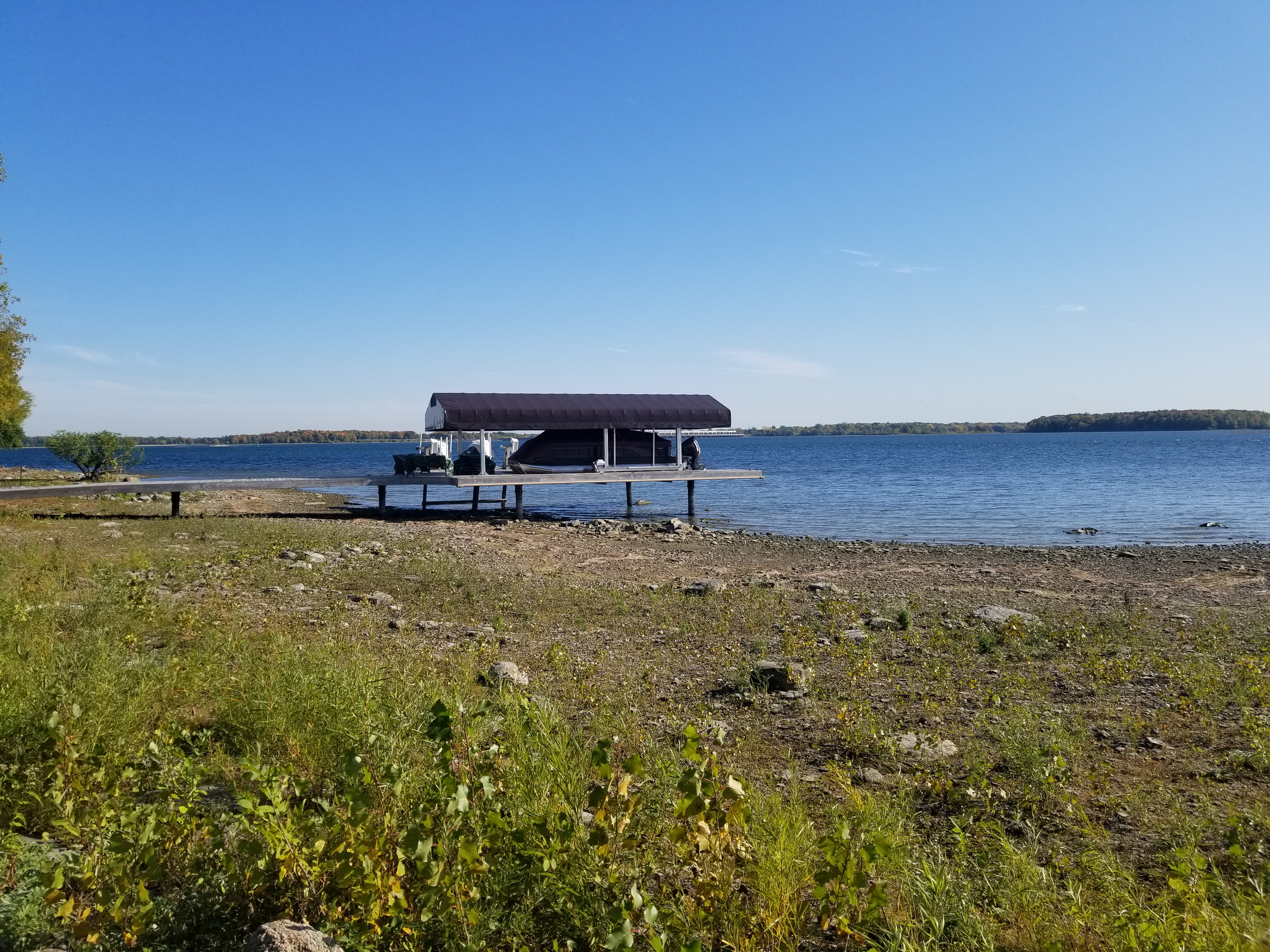 Lake St. Lawrence at Long Sault, Ontario, 10 October 2018 (source:  International Lake Ontario – St. Lawrence River Board)