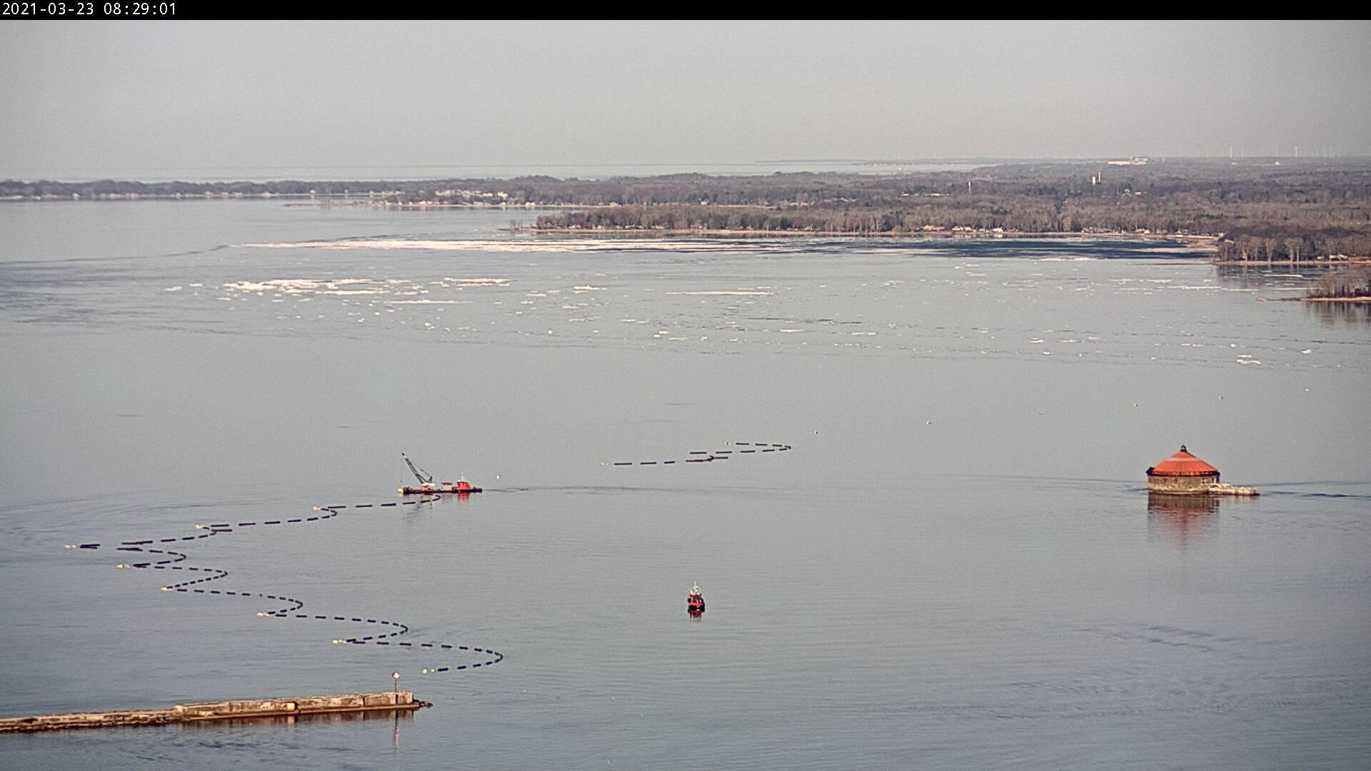 Lake Erie - Niagara River Ice Boom Removal March 23, 2021