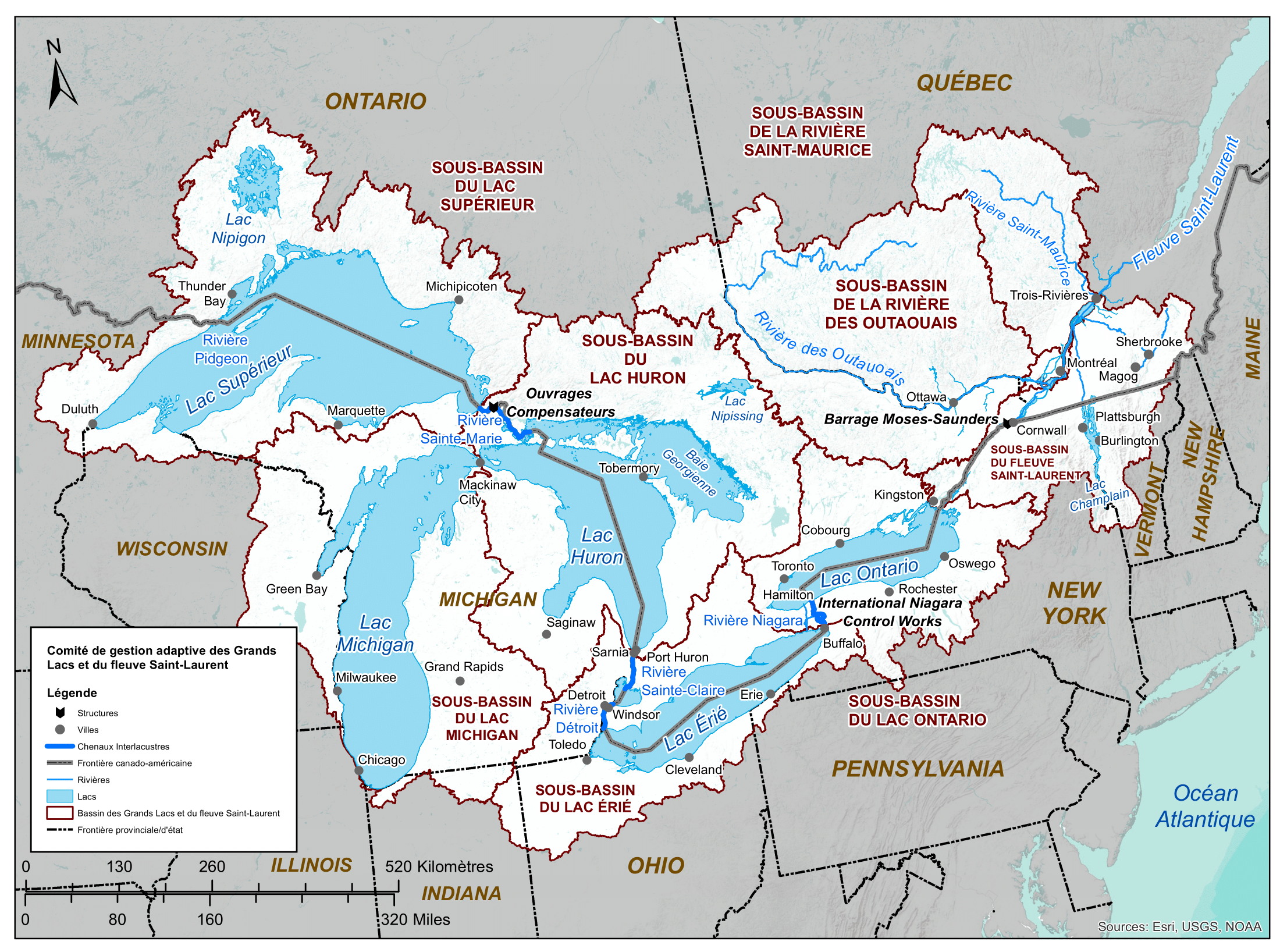 Grands Lacs et fleuve Saint-Laurent
