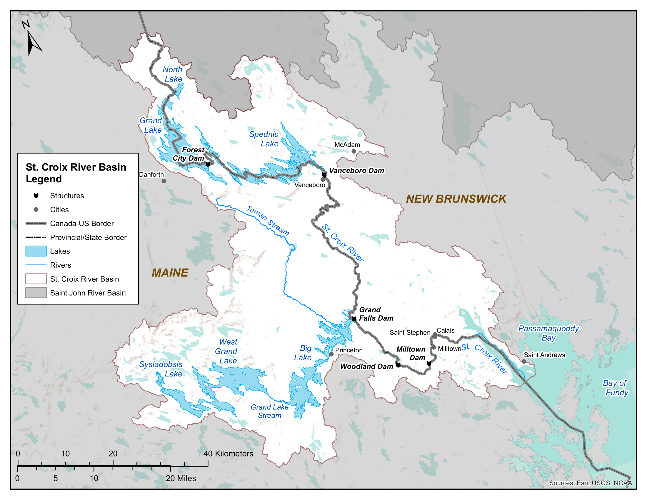 Map of St.Croix River Basin
