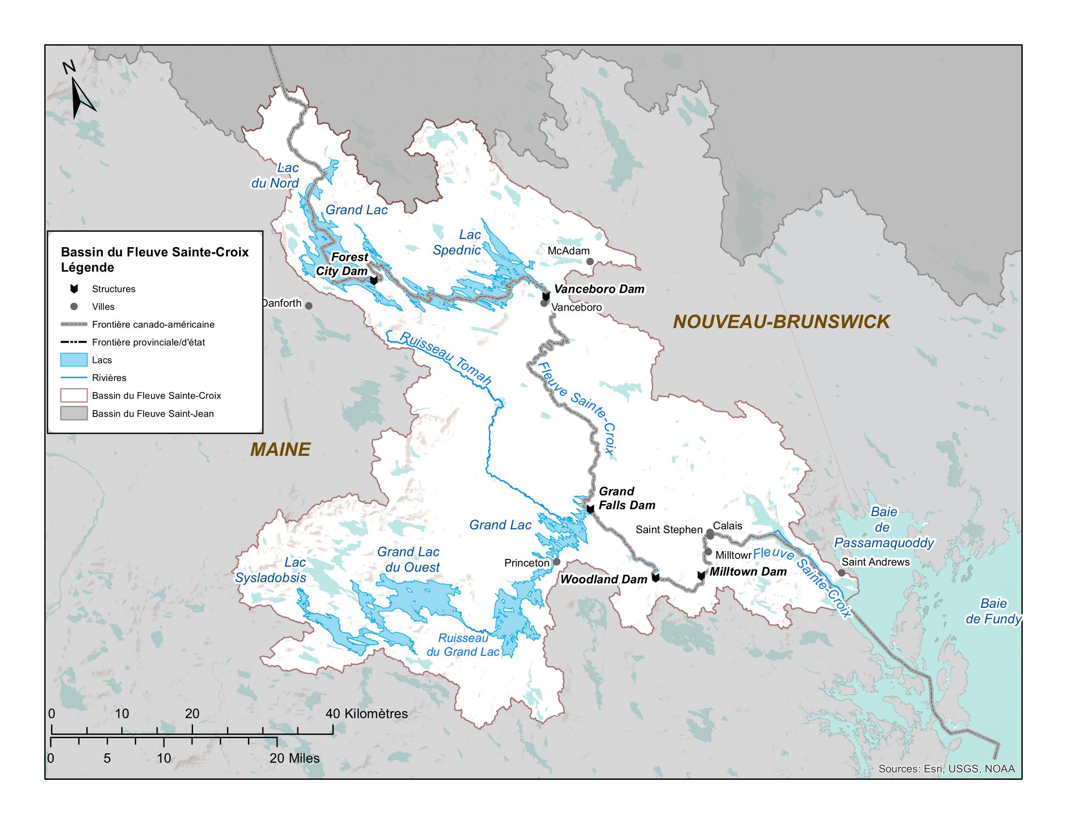 Carte de la rivière Sainte-Croix