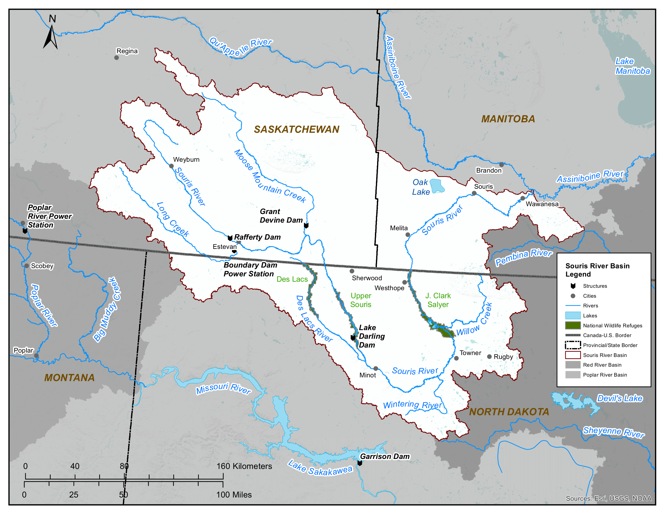 Map - Souris River Basin