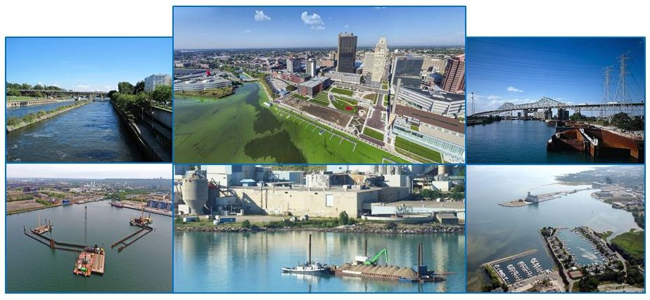 Montage of photos of Great Lakes Areas of Concern