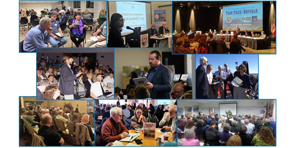 Scenes from various Great Lakes Water Quality Agreement meetings