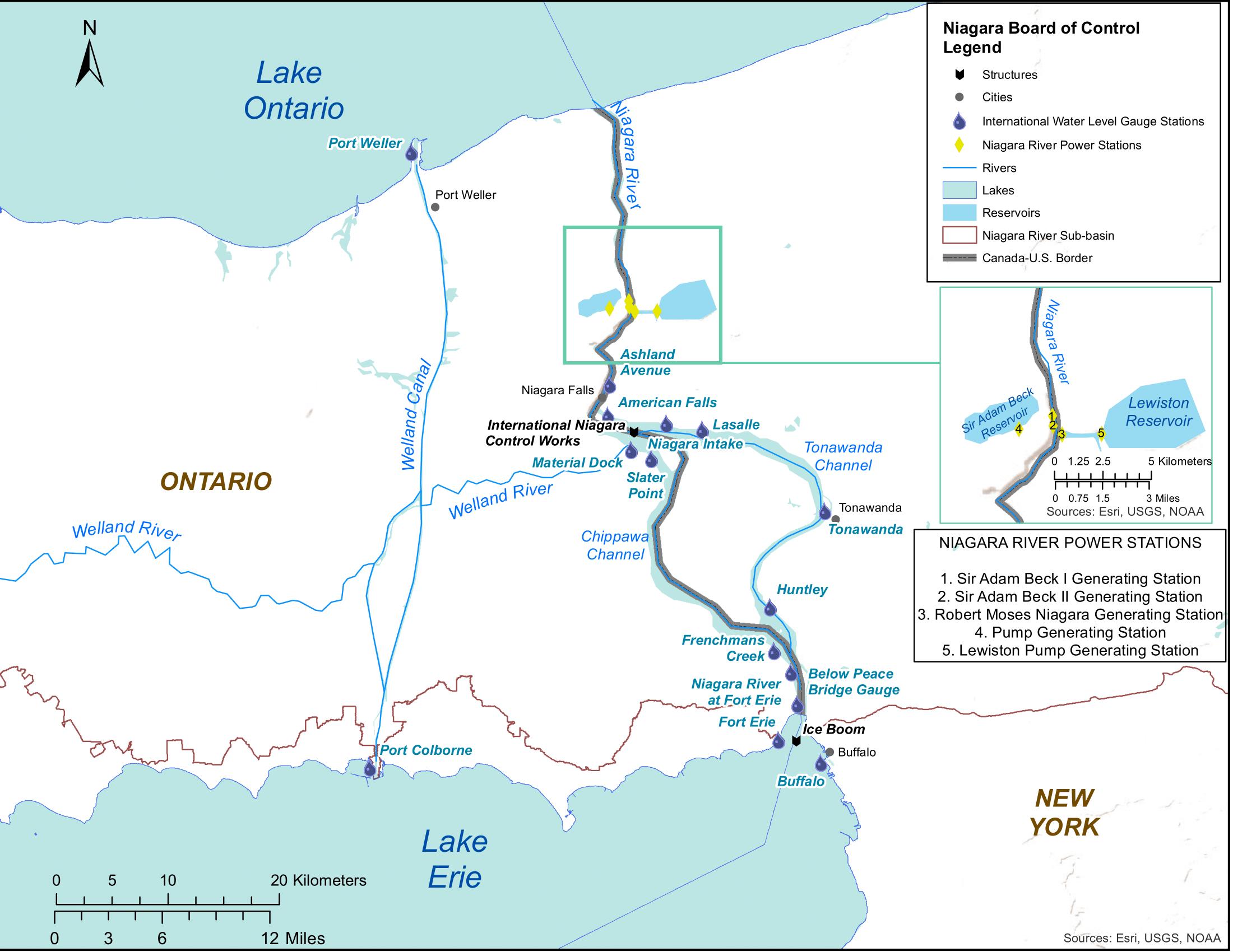 INBC - Niagara River sub-basin map