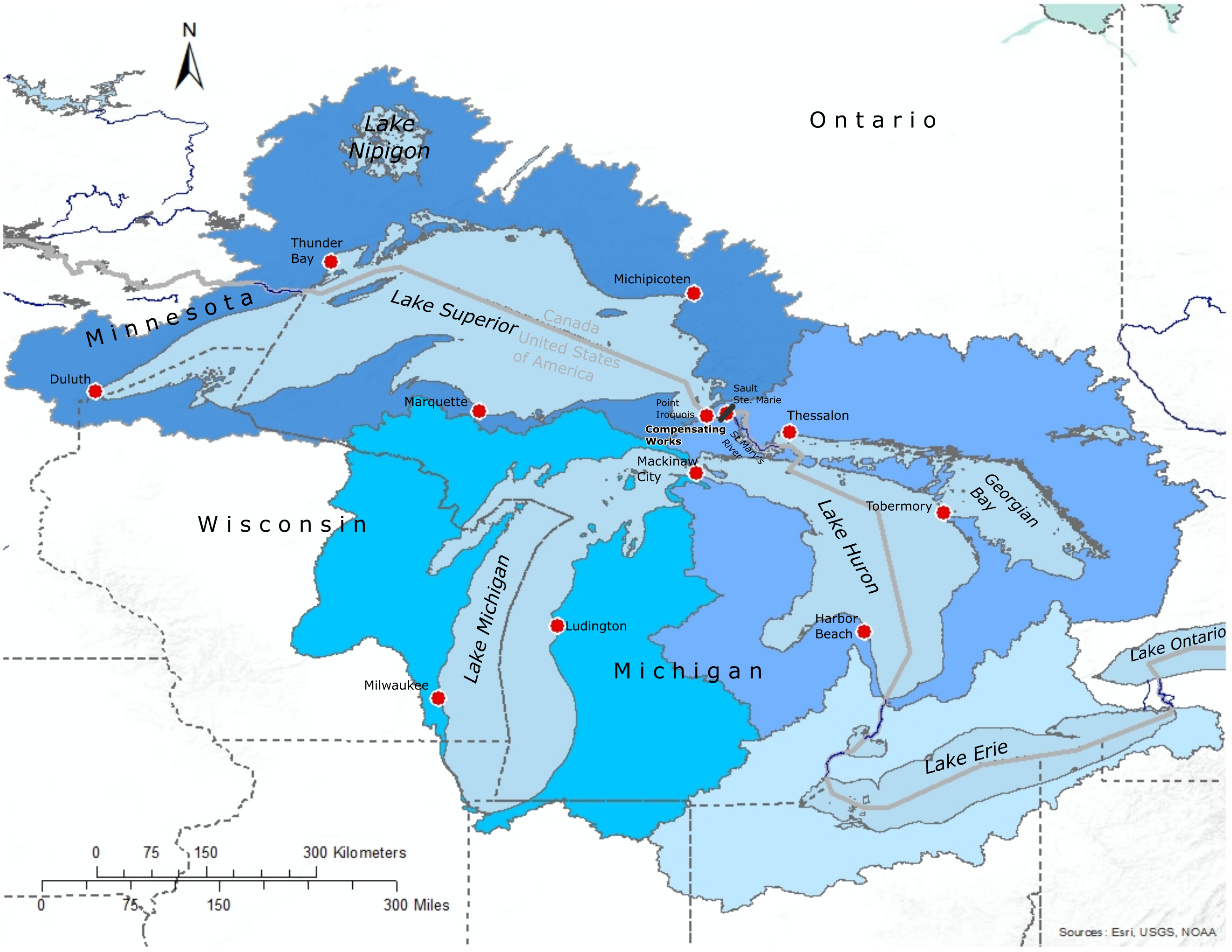 Lake Superior Basin Map
