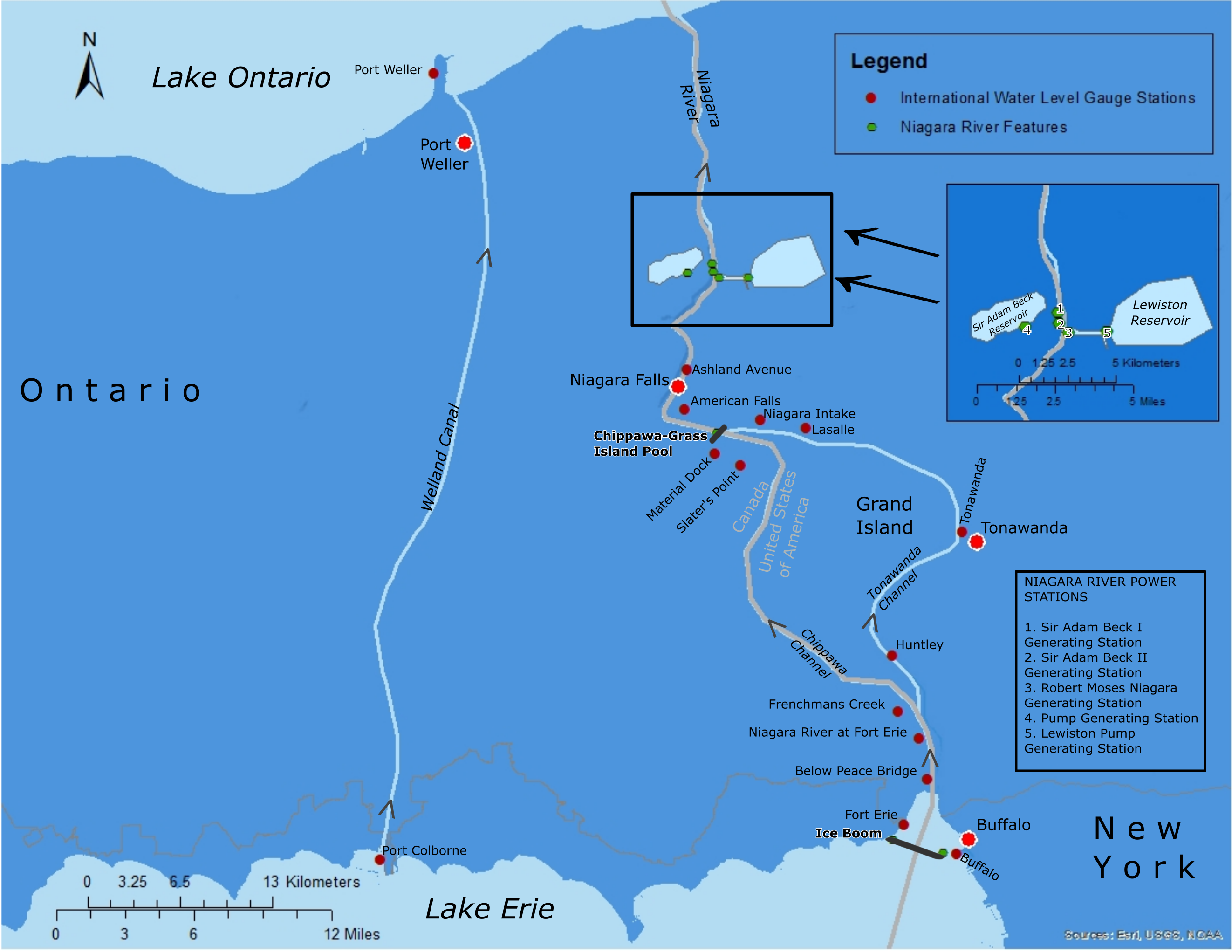 Niagara River Basin Map