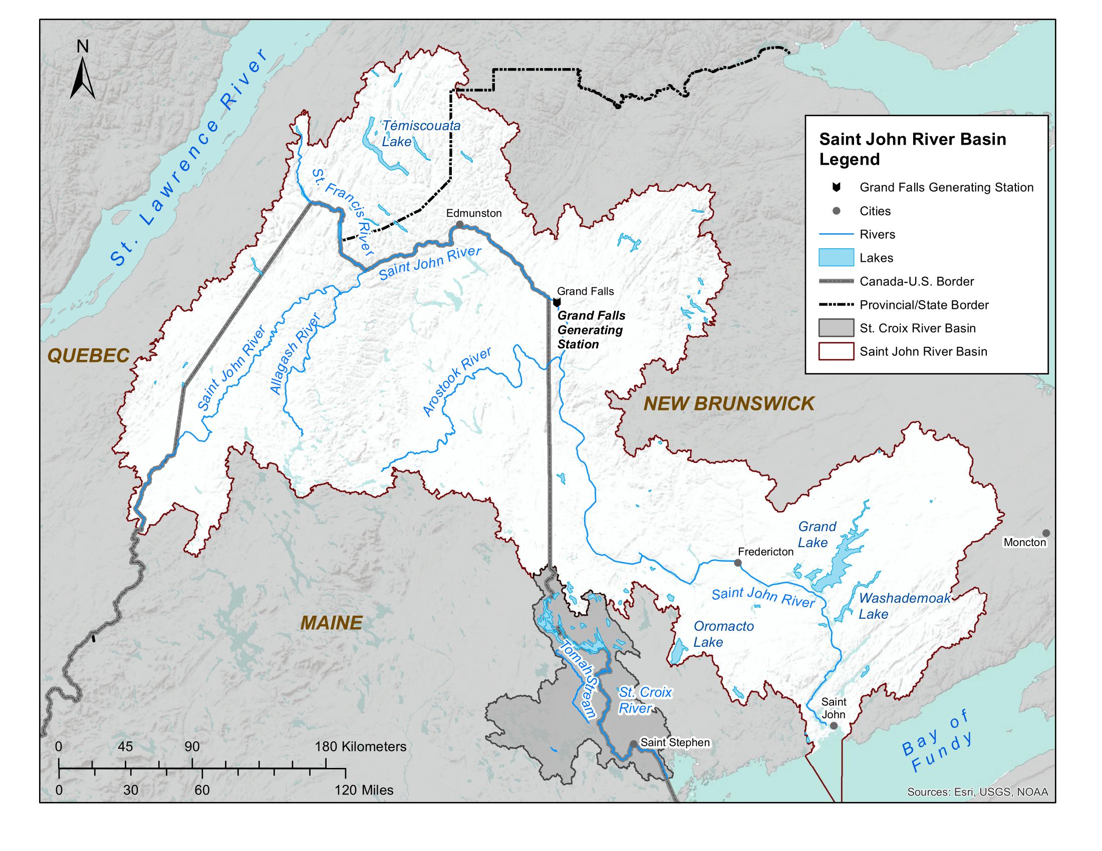 Map of Saint John River Basin