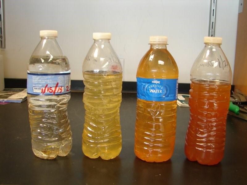flint water study bottles