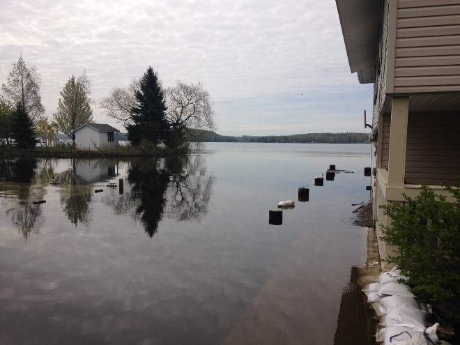 Flooding on Little Sodus Bay in New York, May 2017