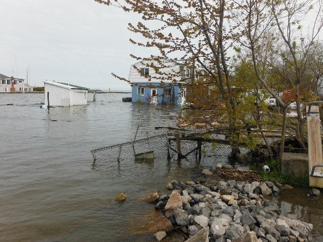 Flooding in Olcott, New York, in May 2017