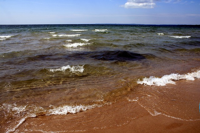 lake huron waves water levels great lakes