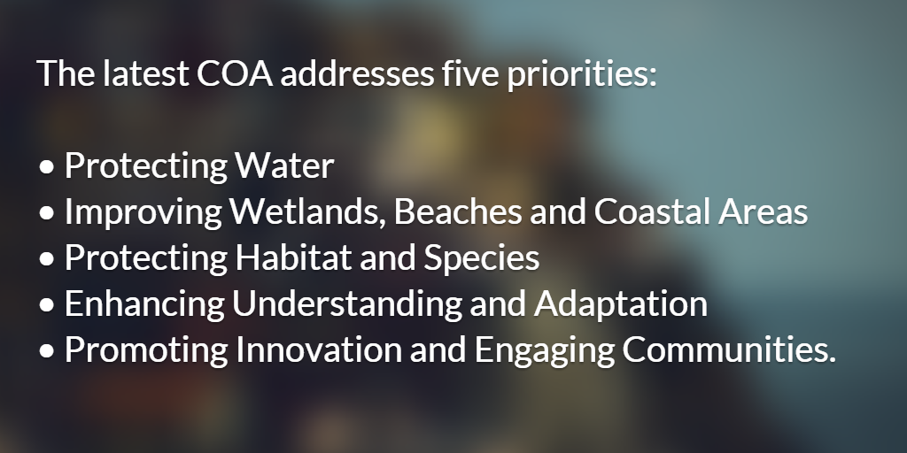 The latest COA addresses five priorities