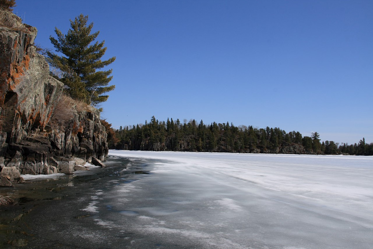 Lake of the Woods in early spring. Via the Lake of the Woods Water Sustainability Foundation