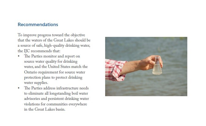 recommendations drinking water great lakes