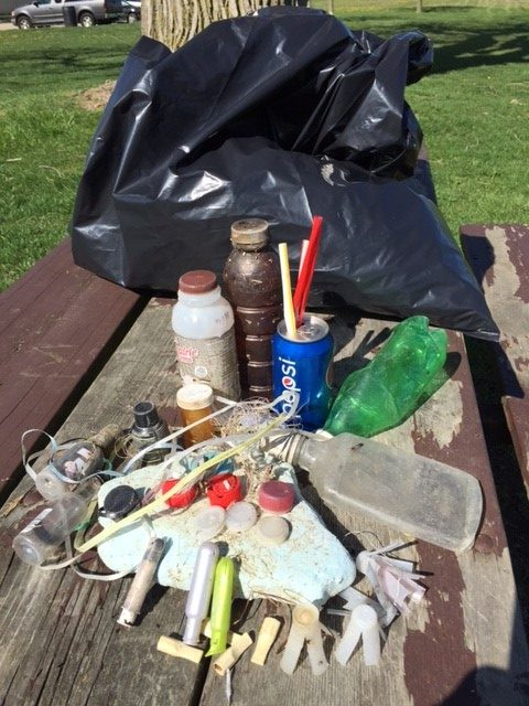 plastic debris detroit river