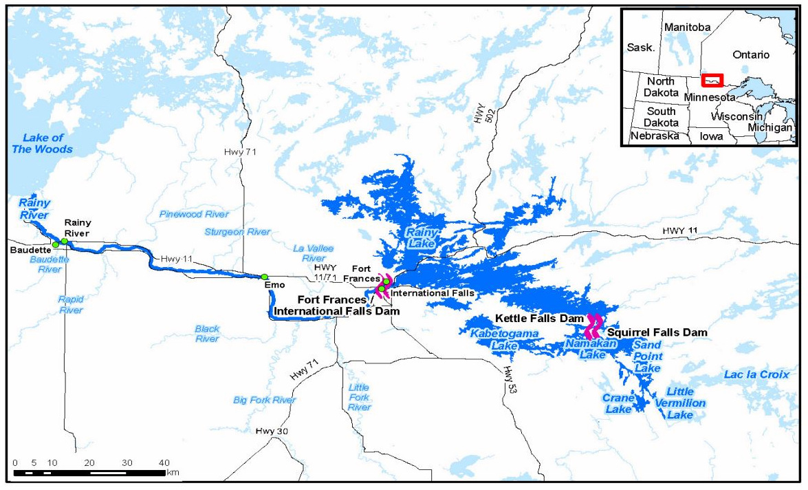 Rainy Lake Map Canada A Plane with Lasers Helps Answer Questions About Rainy Lake Dams