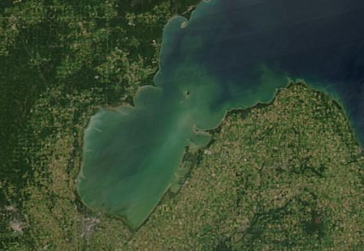 saginaw bay harmful algal bloom nasa