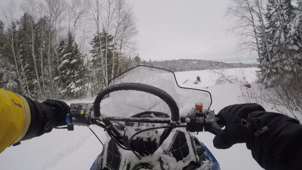 Lee Hrenchuk snowmobile Experimental Lakes Area