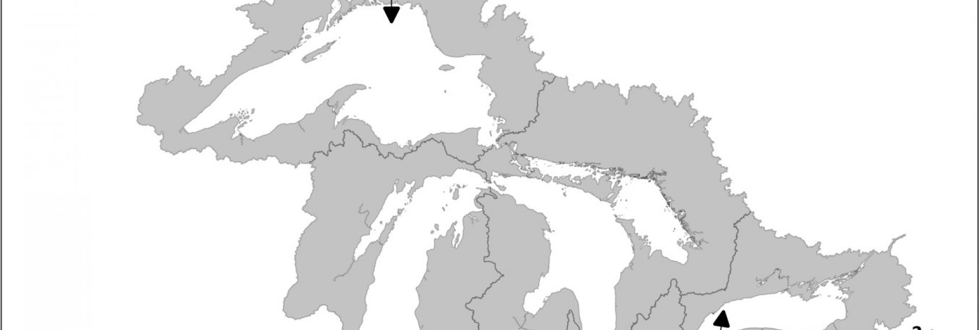 Map of Great Lakes Diversions