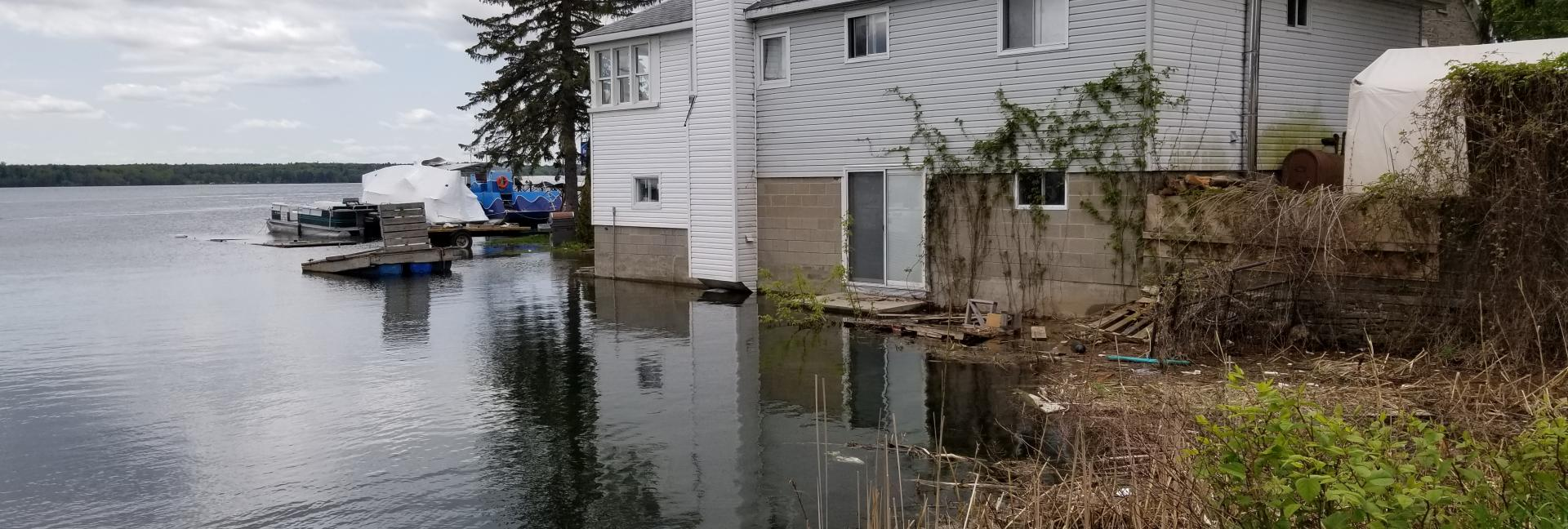 Image of house in Upper St. Lawrence River, Brockville, ON - May 27, 2019
