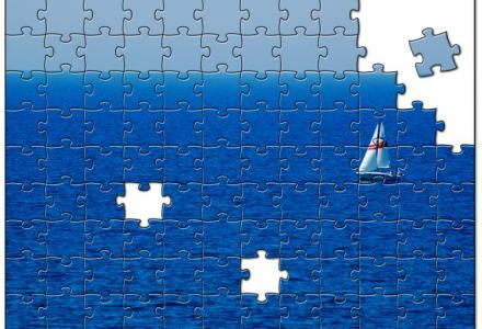 Water Matters - Puzzle of a sail boat on the water