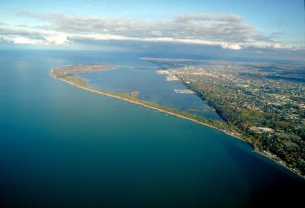 Water Matters - Aerial view of Presque Isle Bay on Lake Erie