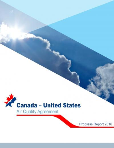 Full cover image of the 2016 Canada-U.S. Air Quality Progress Report