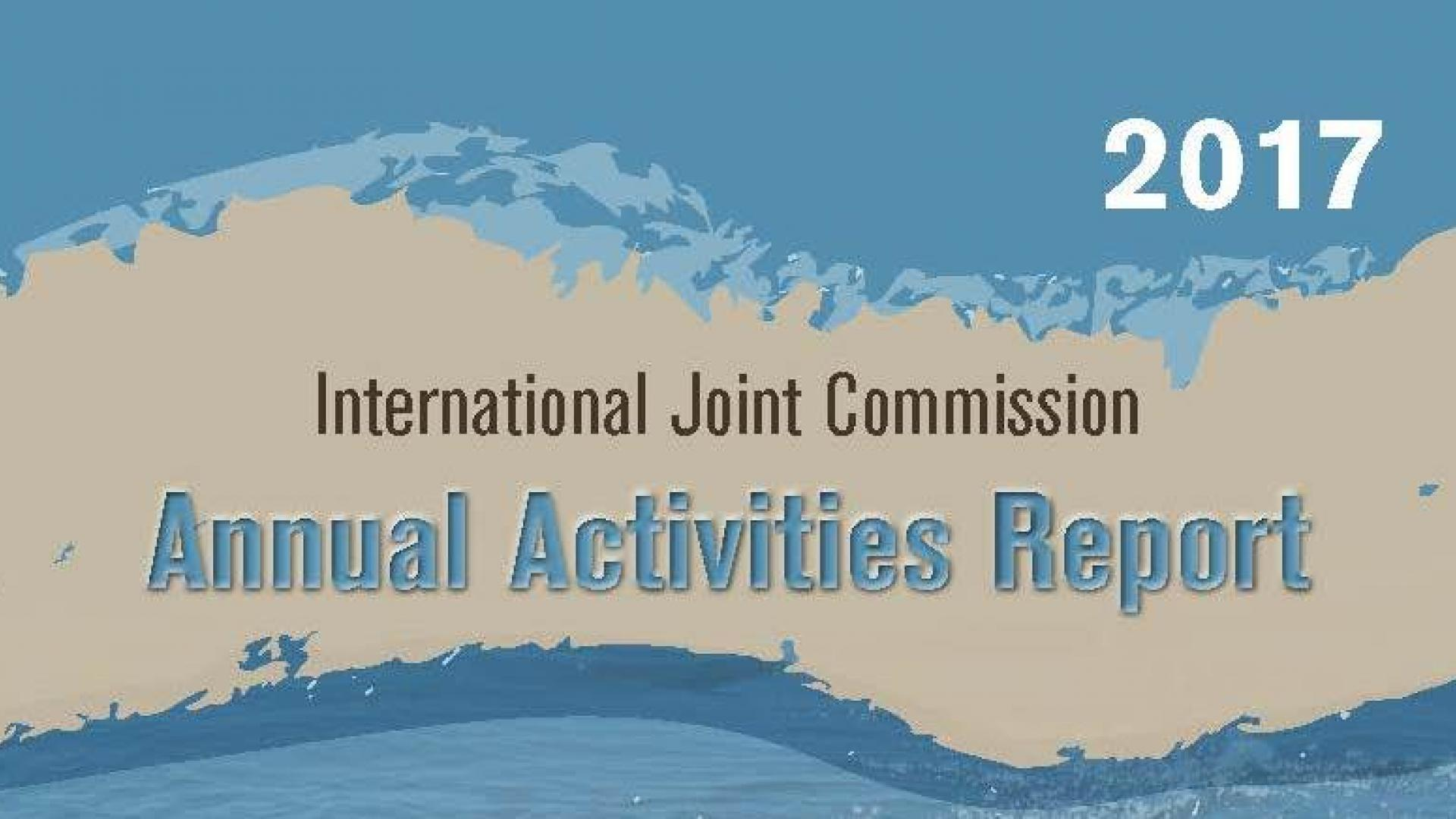Cover page of the IJC's 2018 Annual Activities Report