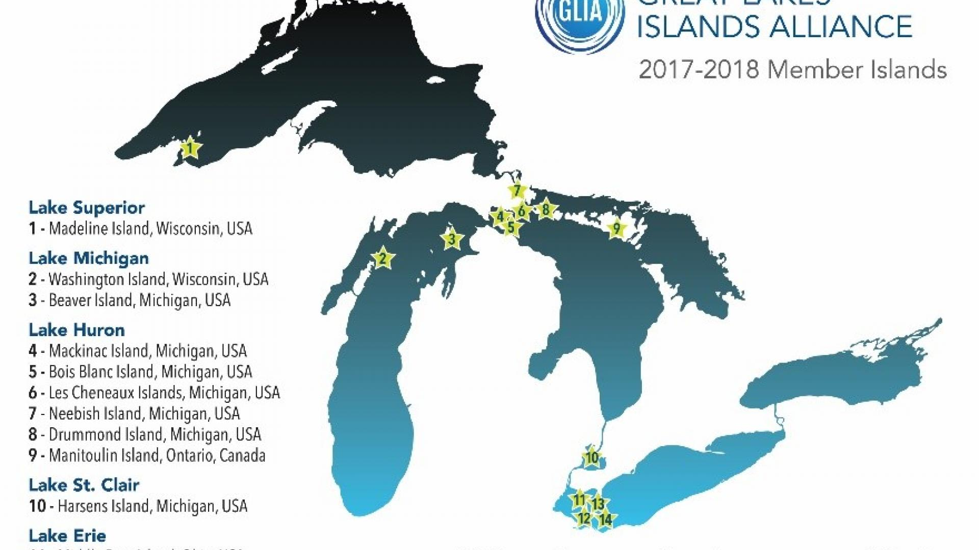 Map Of Canada 5 Great Lakes.New Great Lakes Island Alliance Connects Communities International