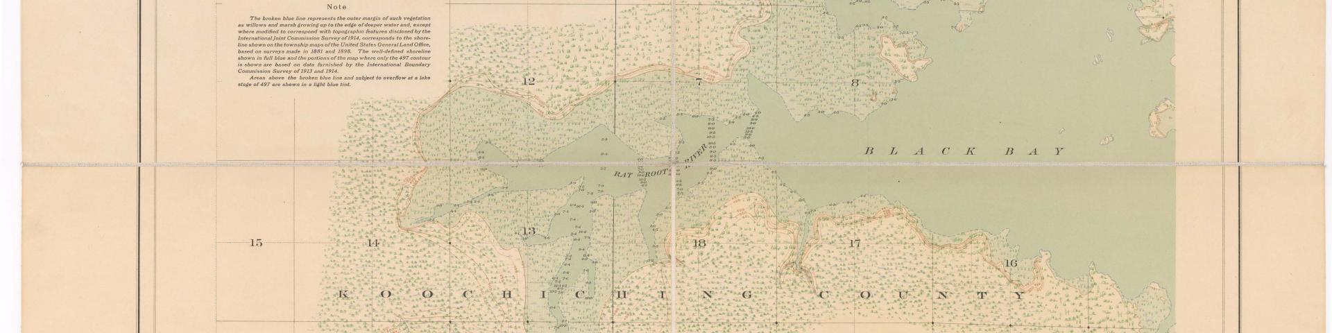 1914 rainy lake map
