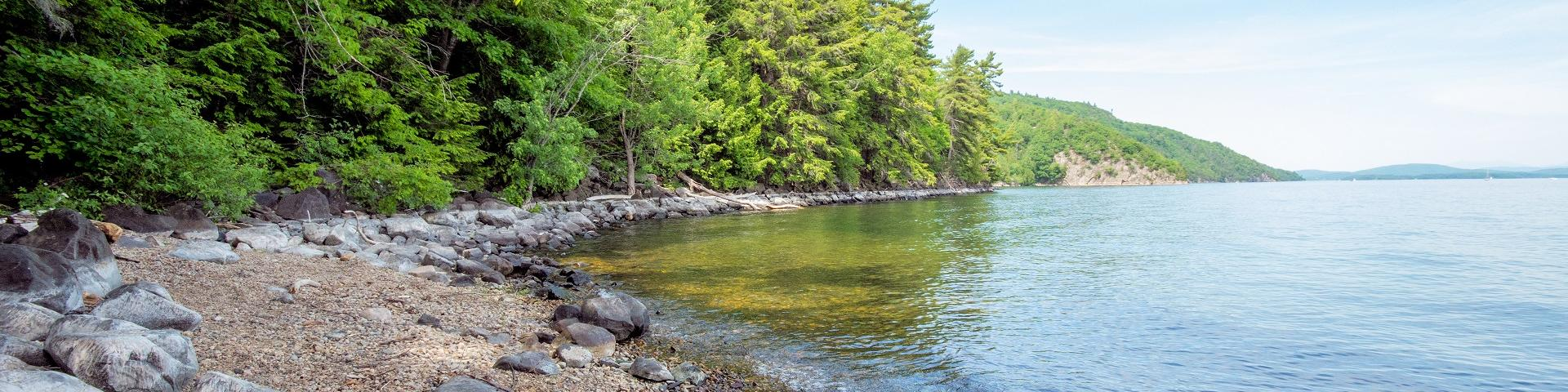 Image of bay in Lake Champlain