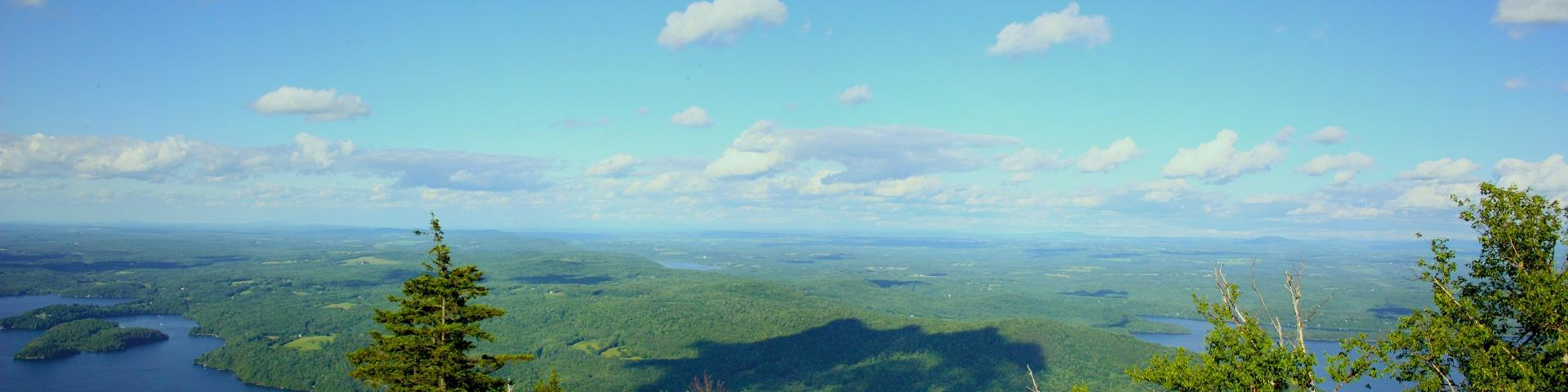 View of Lake Memphremagog from Owls Head mountain