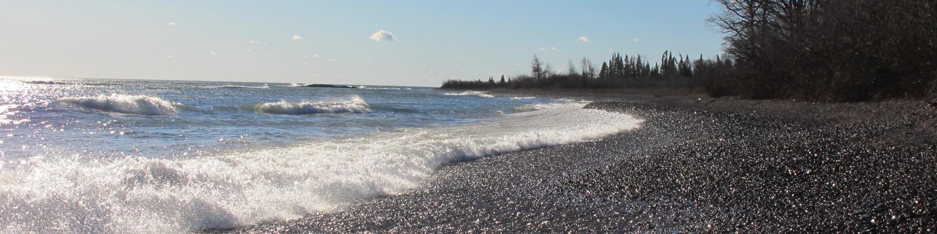 Image of Lake Superior shoreline