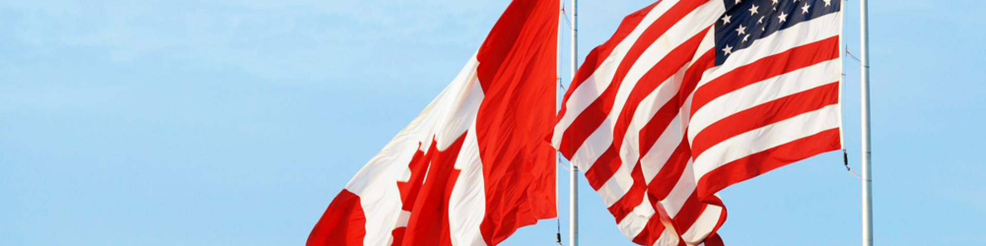 Canadian and U.S. Flags
