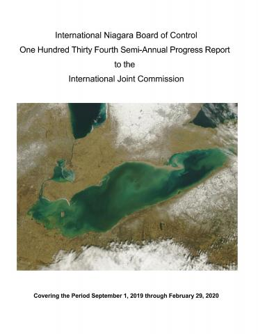 Cover page 134th INBC Semi-Annual Progress Report