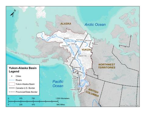 Map of Yukon-Alaska River