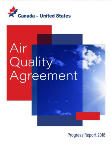 Image of the cover page of the draft 2018 Air Quality Agreement Report