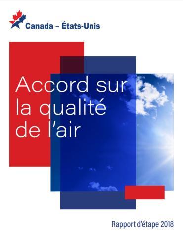 Image de la page de couverture du projet de rapport 2018 sur l'accord sur la qualité de l'air