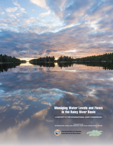 "Cover of the report ""Managing Water Levels and Flows in the Rainy River Basin"""
