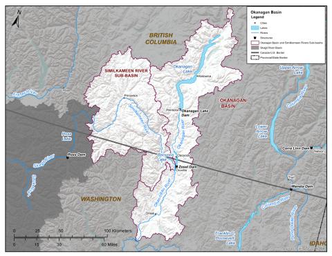 Map of Osoyoos Lake
