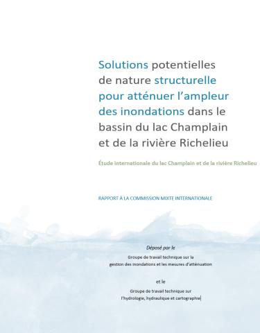 Rapport des solutions potentielles de nature structurelle